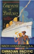Vintage Travel Poster Canadian Pacific Empress of Britain